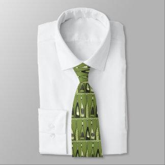 Mid-Century Modern Hipster Green Bottles Tie