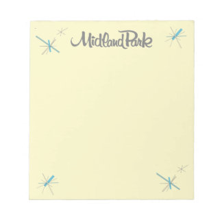 Mid-Century Modern Notepad with authentic logo