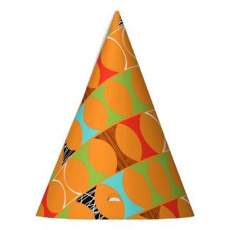 Mid Century Modern Orange Pattern Party Hat