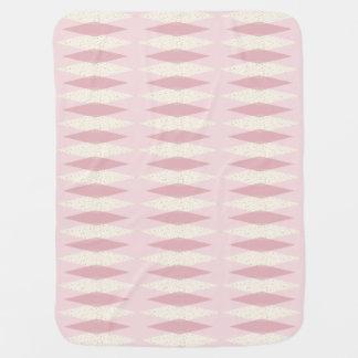 Mid Century Modern Pink Argyle Baby Blanket