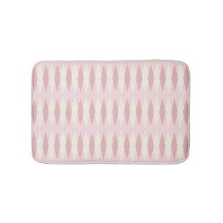 Mid Century Modern Pink Argyle Bath Mat
