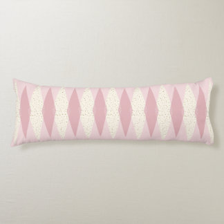 Mid Century Modern Pink Argyle Body Pillow