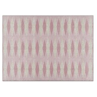 Mid Century Modern Pink Argyle Cutting Board