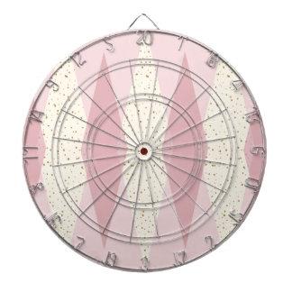 Mid Century Modern Pink Argyle Dart Board
