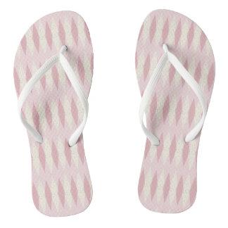 Mid Century Modern Pink Argyle Flip Flops