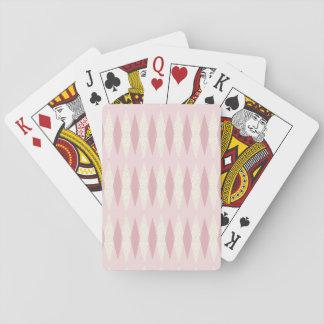 Mid Century Modern Pink Argyle Playing Cards