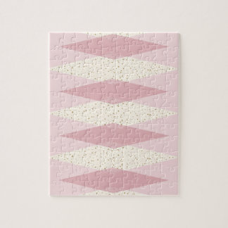 Mid Century Modern Pink Argyle Puzzle