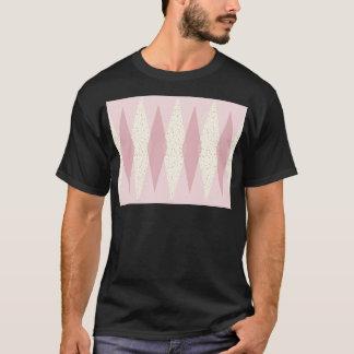 Mid Century Modern Pink Argyle T-Shirt
