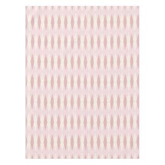 Mid Century Modern Pink Argyle Tablecloth