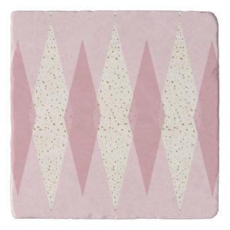 Mid Century Modern Pink Argyle Trivet