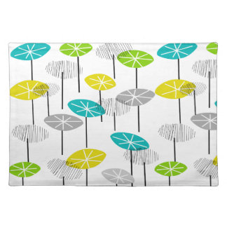 Mid-Century Modern Placemats #41 Seed Pods