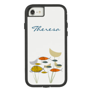 Mid Century Modern Retro Fish Swimming Plants Name Case-Mate Tough Extreme iPhone 8/7 Case