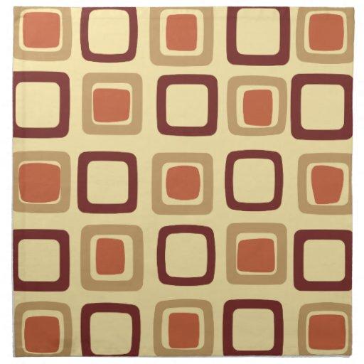 Mid Century Modern Squares Napkin