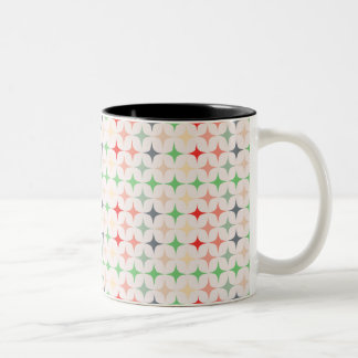 Mid-Century Modern Stars Two-Tone Coffee Mug