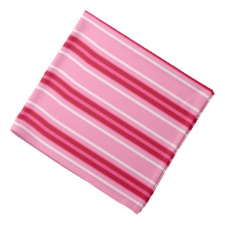 Mid-Century Modern Stripes, Pink and  Burgundy Bandana