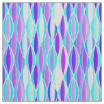 Mid-Century Ribbon Print - violet and aqua Fabric