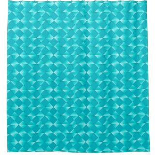 Mid-Century Satin Diamonds - turquoise & aqua Shower Curtain