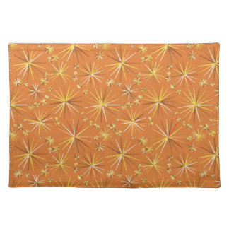 Mid Century Sputnik pattern, Terracotta Placemat