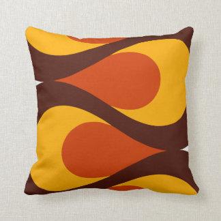 Mid Century Waves Throw Pillow
