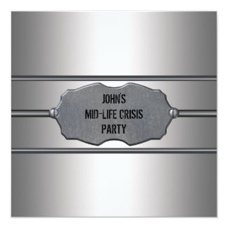 Mid Life Crisis Mans Black 40th Birthday Party Card