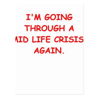 mid life crisis postcards