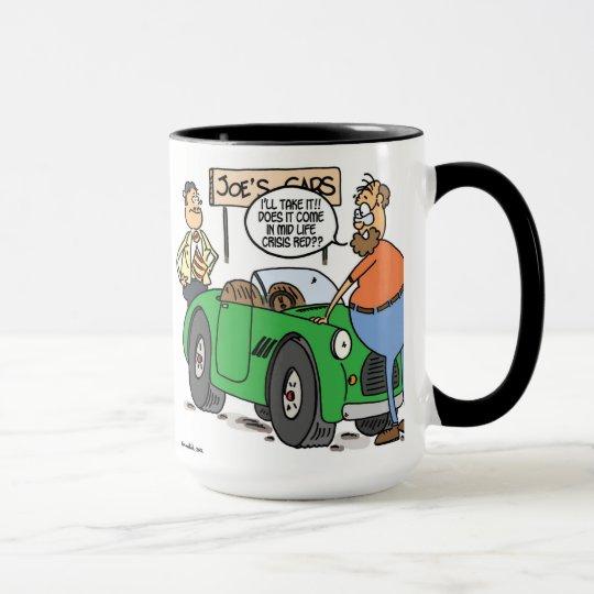 mid life crisis red mug
