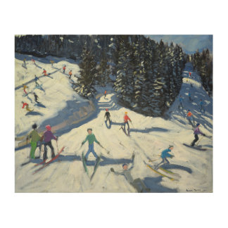 Mid-morning on the Piste 2004 Wood Wall Art