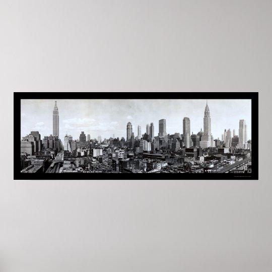 Mid-New York skyline Photo 1931 Poster