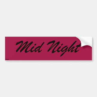 Mid Night Racing Sticker
