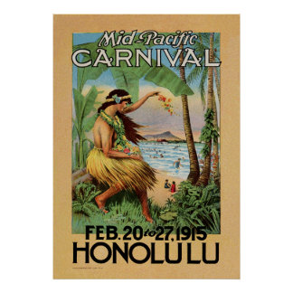 Mid-Pacific Carnival - Honolulu - 1915 Poster