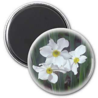 mid-spring floral selections 6 cm round magnet