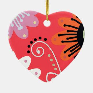 Mid Summer Ceramic Heart Decoration