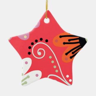 Mid Summer Ceramic Star Decoration