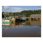Mid tide at the Bay of Fundy at St. Martins, New Poster