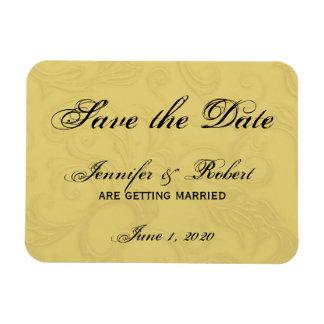Midas Touch Gold Wedding Rectangular Photo Magnet
