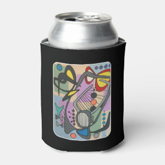 'MidCentury Mod Spider Song' painting on a Can Cooler