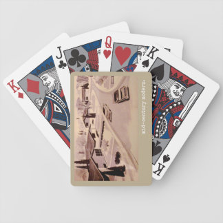 Midcentury Modern Architecture Bicycle Playing Cards