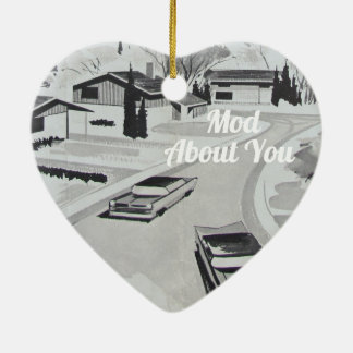 Midcentury Modern Architecture - Mod about you Christmas Ornament