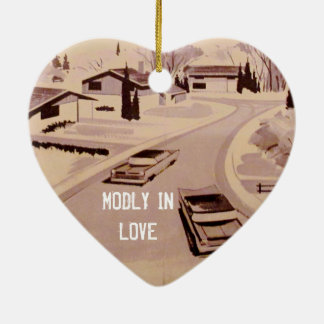 Midcentury Modern Architecture - Modly in Love Christmas Ornament
