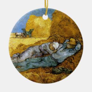 Midday Rest, Vincent Van Gogh Round Ceramic Decoration