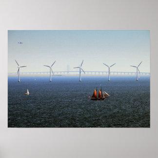 Middelgrunden Wind Farm, Oresund, Denmark Poster