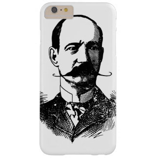 Middle Age Bald Man with Moustache Vintage Barely There iPhone 6 Plus Case