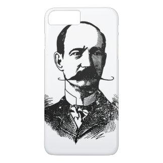 Middle Age Bald Man with Moustache Vintage iPhone 7 Plus Case