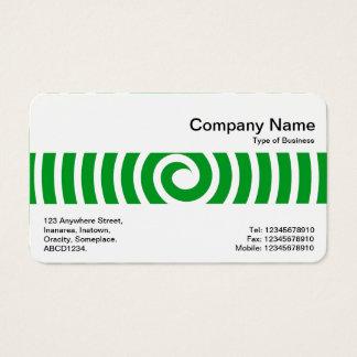Middle Band - Spiral - Grass Green Business Card