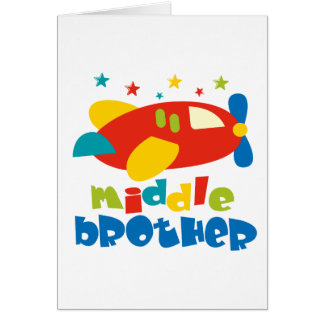 Middle Brother Plan Stars Greeting Card