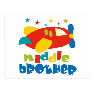 Middle Brother Plan Stars Postcard