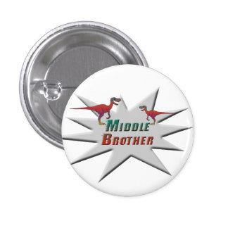 Middle Brother Velociraptor Design 3 Cm Round Badge