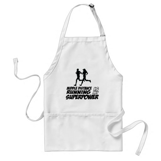 Middle distance running aprons