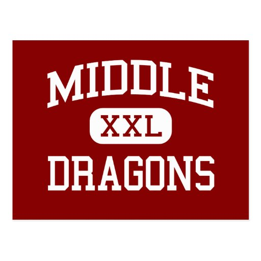 Middle - Dragons - College - Stockton California Post Cards
