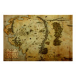 MIDDLE EARTH™ Map #3 Poster